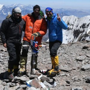 """One of the most rewarding feelings for me is sharing a summit photo after a hard earned climb to the highest point in the Western Hemisphere"" ~SMI Founder Kurt Wedberg"